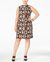 INC International Concepts Plus Size Printed Shift Dress, Only at Macy's