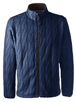 Classic Men's Polartec Cable Fleece Jacket-Regiment Navy