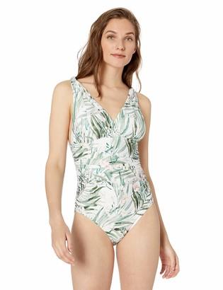 Athena Women's Over The Shoulder Surplice One Piece Swimsuit