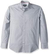 Bugatchi Men's Cotton Long Sleeve Shaped Woven Shirt
