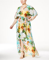 Melissa McCarthy Trendy Plus Size Printed High-Low Maxi Dress