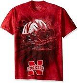 The Mountain Men's U of Nebraska Huskers Bt Helmet Adult T-Shirt