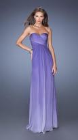 La Femme Ruched Sweetheart Dress in Majestic Purple 19549