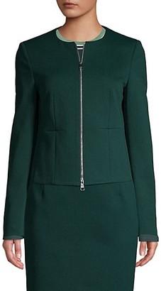 HUGO BOSS Jaxine Structured Jersey Houndstooth Jacket
