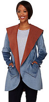 LOGO by Lori Goldstein Reversible Fleece Jacket with Hood