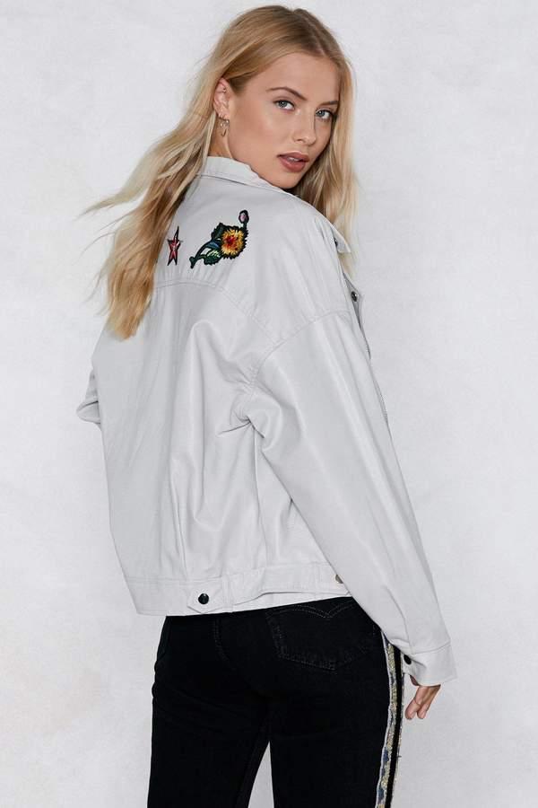 Nasty Gal Heather Faux Leather Moto Jacket