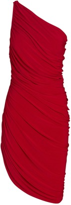 Norma Kamali Diana Ruched One-Shoulder Dress