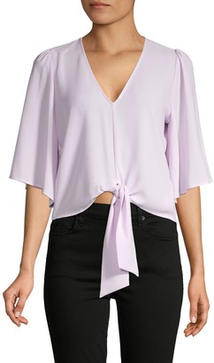 1 STATE Tie Front V-Neck Top