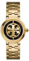 Tory Burch Reva Watch, Gold-Tone/Black, 28 Mm