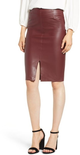 6609dfba94 Faux Leather Pencil Skirt - ShopStyle Canada