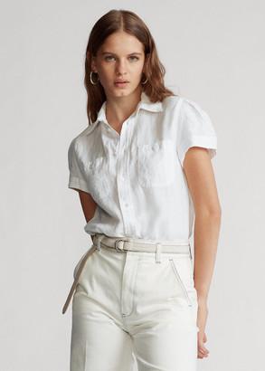 Ralph Lauren Linen Short-Sleeve Shirt