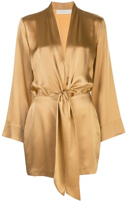 Mason by Michelle Mason Kimono Tie Mini Dress