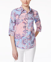 Charter Club Paisley-Print Shirt, Only at Macy's