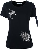 J.W.Anderson silver-tone studded T-shirt - women - Cotton - XXS