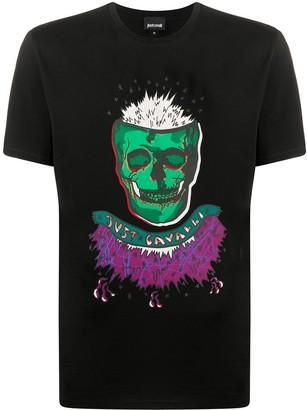 Just Cavalli crew neck skull print T-shirt