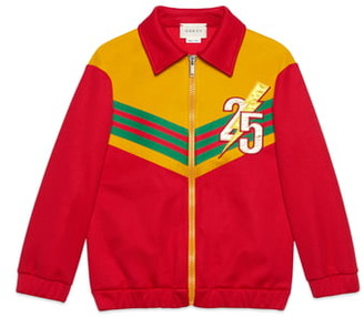 Gucci Applique Zip Track Jacket
