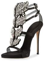 Giuseppe Zanotti Satin Wing Jeweled Sandal