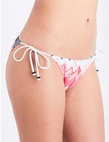 Missoni Chevron crochet-knit bikini bottoms