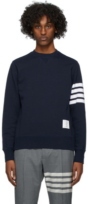 Thom Browne Navy 4-Bar Classic Sweatshirt