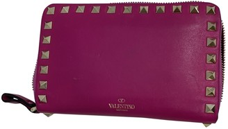 Valentino Pink Leather Wallets