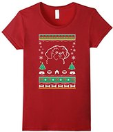 Women's Ugly Xmas Sweater Gifts For Shih Tzu dog lovers Large