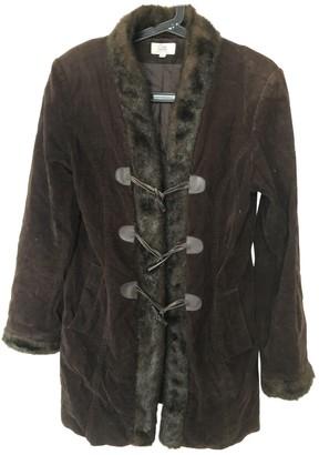 Gerard Darel Brown Cotton Coat for Women