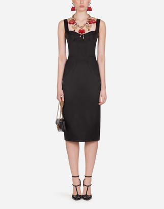 Dolce & Gabbana Satin Bustier Dress With Brassiere