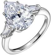 Lafonn Classic Sterling Silver Platinum Plated Lassire Simulated Diamond Ring (4.75 CTTW)