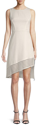 Avantlook Asymmetric-Trim Sheath Dress