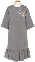 Dolce & Gabbana Drop Waist Patch Dress (Toddler Girls, Little Girls & Big Girls)
