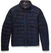 Tod's Pash Waxed-Suede Quilted Jacket