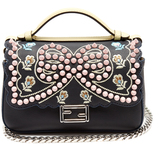 Fendi Double Micro Baguette embellished cross-body bag