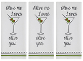 Olive You Dish Towels (Set of 3)