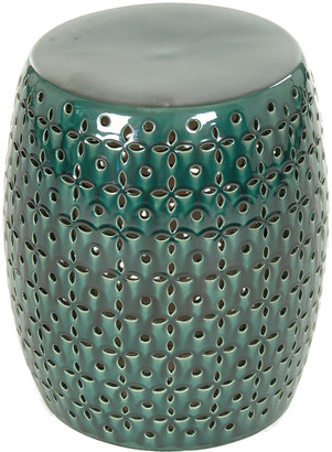 Zentique Lovell Garden Stool Teal