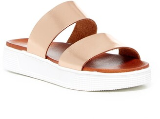 Mia Saige Platform Slide Sandal