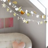 Metallic Icon String Lights, Hearts, White/Gold