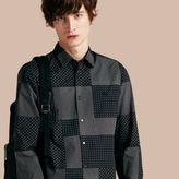 Burberry Patchwork Print Cotton Shirt