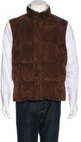 Loro Piana Suede Quilted Down Vest