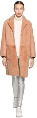 Yves Salomon REVERSIBLE CURLY MERINO COAT