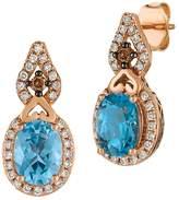 LeVian Le Vian Women's Le Vian Chocolatier Diamond, Topaz & 14K Rose Gold Earrings