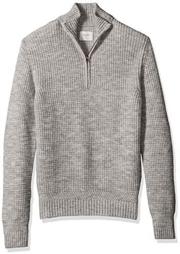 Billy Reid Men's Cashmere Half Zip Pullover Sweater