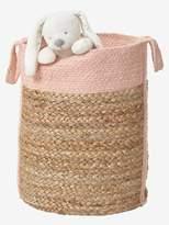 Wicker Basket - wicker/pink, Storage & Decoration | Vertbaudet