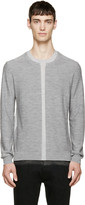 McQ by Alexander McQueen Grey Two-Tone Wool Sweater