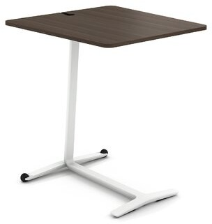 Steelcase Campfire Skate End Table Color: Arctic White, Laminate Color: Blackwood