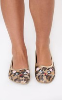 PrettyLittleThing Brown Cat Ballet Flats