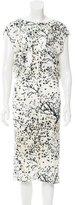 Balenciaga Draped Midi Dress