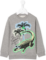 Stella McCartney crocodile print sweatshirt
