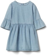 Gap 1969 Chambray Bell-Sleeve Dress