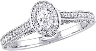 Affinity Diamond Jewelry Affinity 14K Gold 7/10 cttw Oval-Cut Diamond Halo Ring