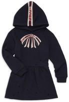Gucci Baby Girl's Bow-Print Hoodie Dress